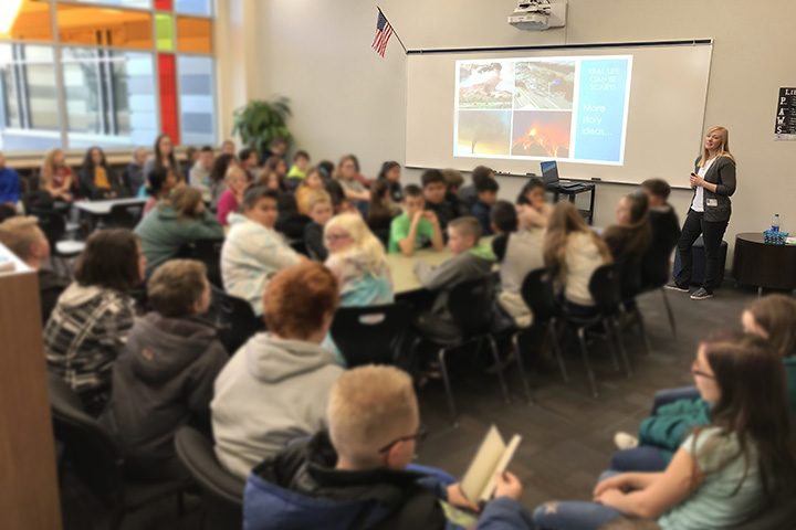 Author visit to a classroom by Rebecca Bischoff
